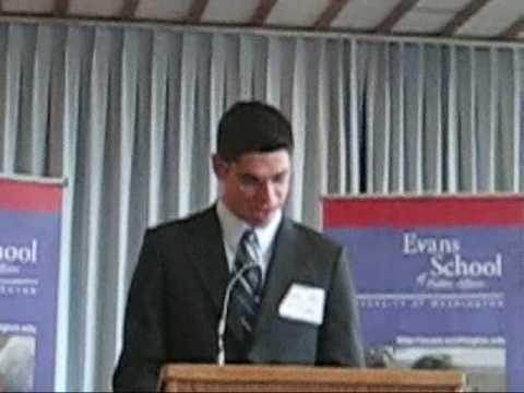Efrain Gutierrez - Speech at the Evans School Fellowship Award Celebration 2009