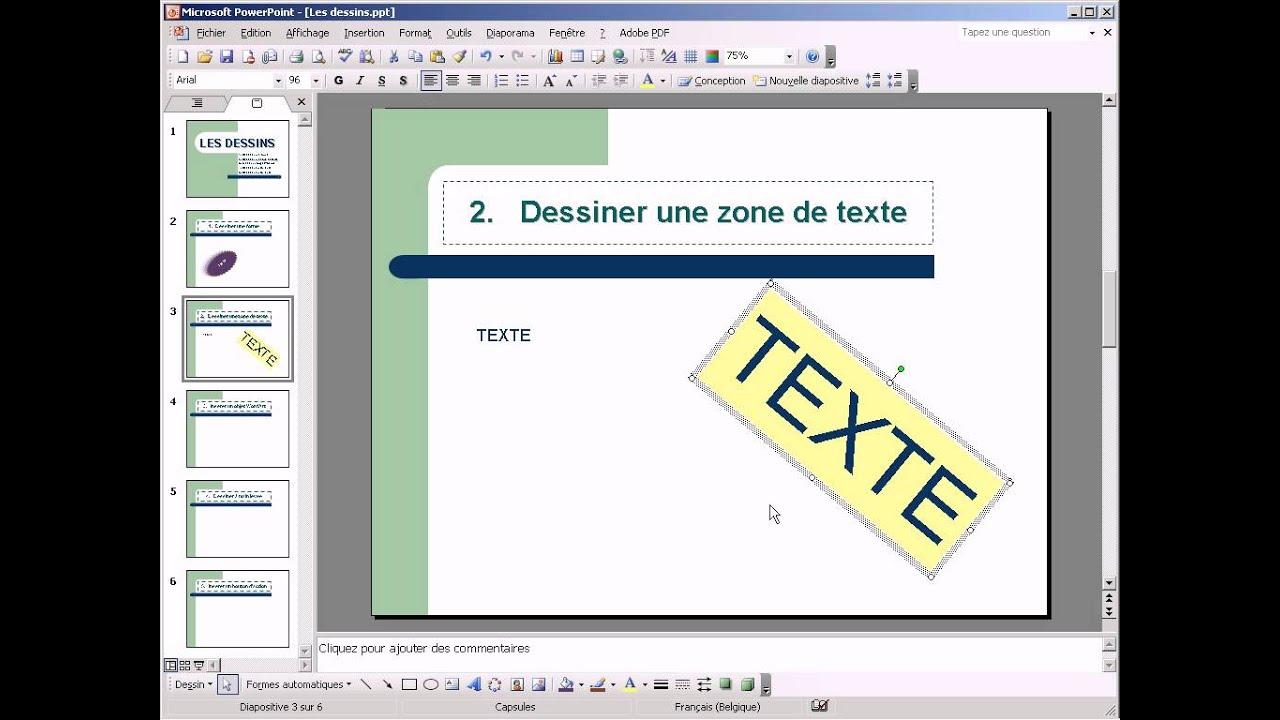 comment dessiner une zone de texte