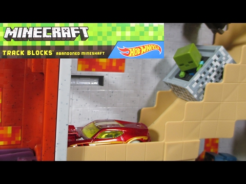 Hot Wheels Minecraft Track Blocks Abandoned Mineshaft and Nether Fortress