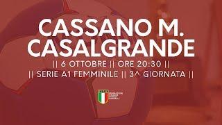 Serie A1F [3^ giornata]: Cassano Magnago - Casalgrande 25-23