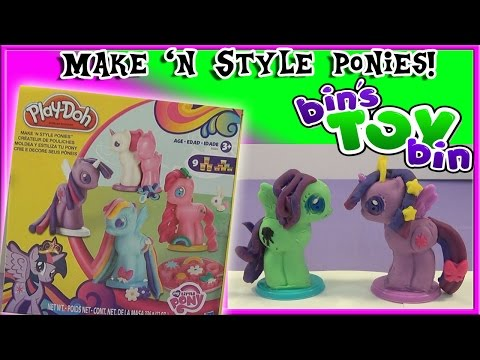 My Little Pony Play-doh Make 'n Style Ponies Playset! Review By Bin's Toy Bin video
