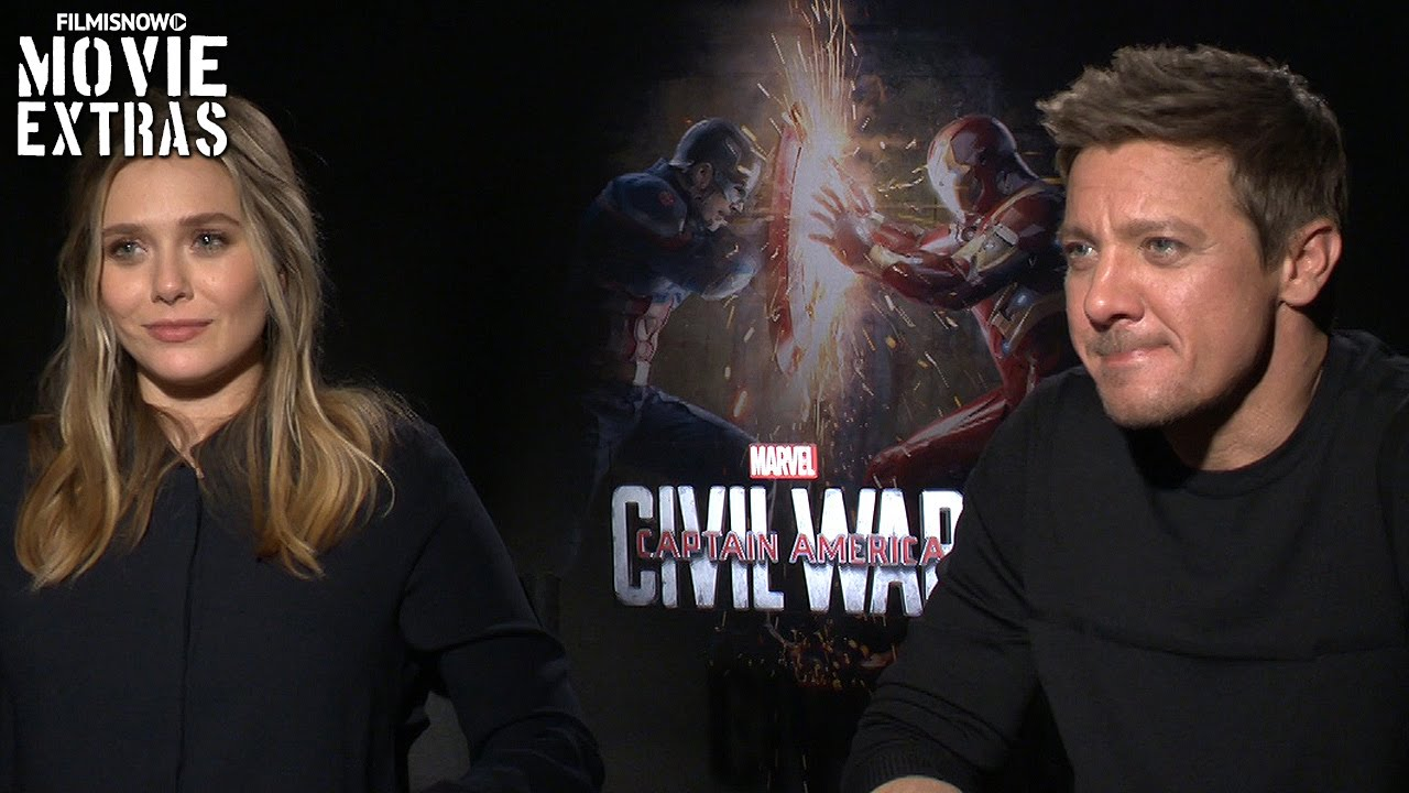 Elizabeth Olsen & Jeremy Renner talk about Captain America: Civil War (2016)