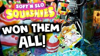 Won all the SQUISHIES from the Claw Machine! (CLEANED OUT)