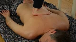 Ayurvedic Yoga Massage, ASMR, Full Body Part 2 Using Feet on Back