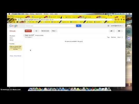 Intro to Google Groups