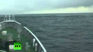Tsunami Monster Wave on Sea taken by Japanese Coast Guard