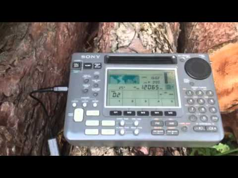 Radio Australia 12065 KHz excellent signal Sangean ATS-803A vs Sony ICF-SW55