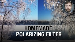 Free polarizing filter. Capturing a new camera phone using filter, taken from the old one