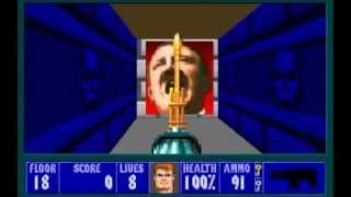 Wolfenstein 3D spear of destiny 1992  all bosses
