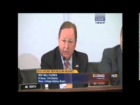 Flores Remarks on the FY2015 House Republican Budget