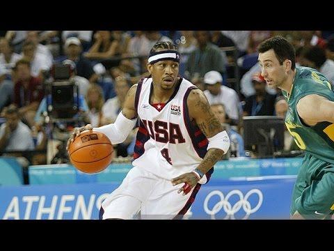 USA vs Australia 2004 Athens Olympics Men's Basketball Group Game FULL GAME English