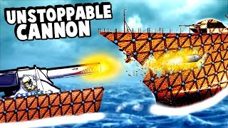 Biggest Cannon Ever Becomes Even Bigger and Destroys an Entire Battleship in Forts!