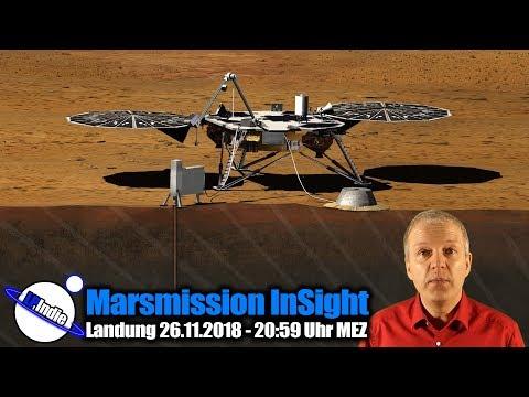 Marsmission Sonde InSight - Landung am 26.11.2018 - 20:59 MEZ