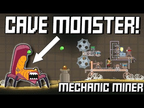 GIANT CAVE MONSTER vs STEEL SAW BLADES! Mechanic Miner Ep2