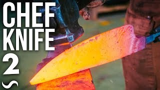 MAKING A CHEF'S KNIFE!!! PART 2