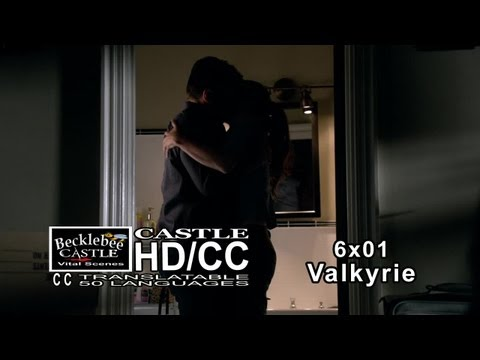 Castle 6x01 valkyrie Sex-y Bathroom Scene  Castle & Beckett Make Out | Engagement Ring (hd cc) video