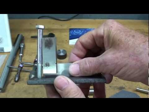 MACHINE SHOP TIPS #100 - Ways to Tap a Hole Straight Part A tubalcain