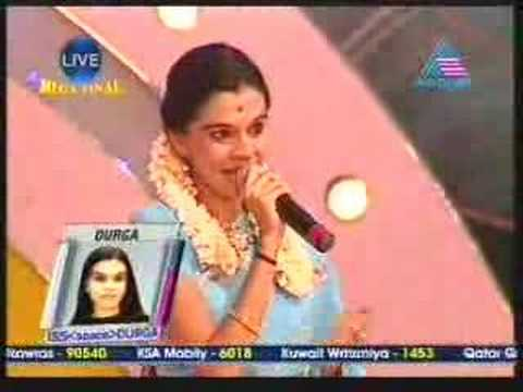 Idea Star Singer Mega Final live Durga Vishwanath singing ..