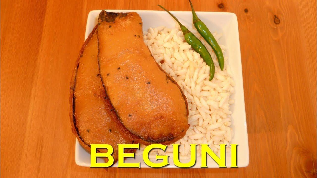 Batter Fried Brinjal - BENGALI BEGUNI - Crispy Eggplant Fritters ...