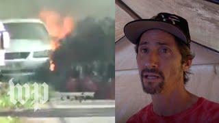 His neighborhood was wrecked by fiery lava. He says Hawaii is