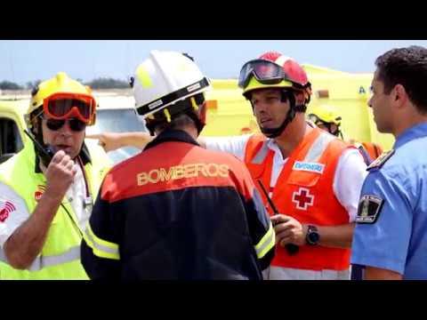Simulacro de accidente de avión en San Bartolomé de Tirajana, Gran Canaria - CANASAR 2019