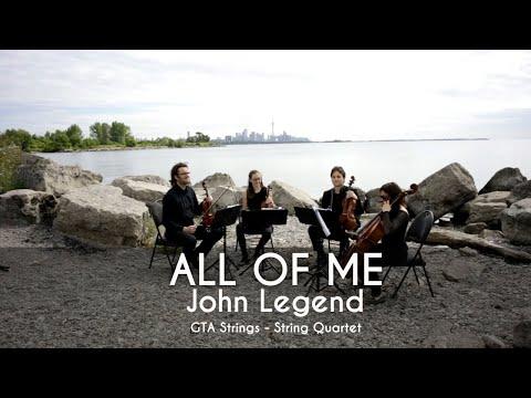 All of me - John Legend  Upbeat String Quartet COVER