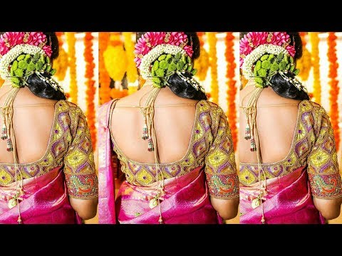 Latest Maggam Work / aari Work Saree Blouse Designs Ideas for Wedding / Parties