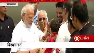 Watch: PM Narendra Modi greeted by a small girl with flowers at Kolkata airport