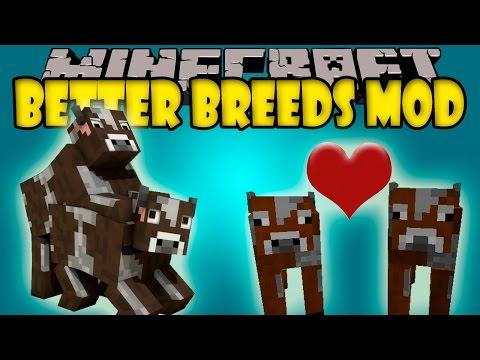 BETTER BREEEDS MOD Animales con Generos y Razas Minecraft mod 1.7.10 Review ESPAÑOL