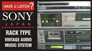 SONY, JAPAN RACK TYPE VINTAGE MUSIC SYSTEM