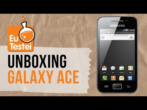 Smartphone Samsung Galaxy Ace GT-S5830B - Unboxing Brasil