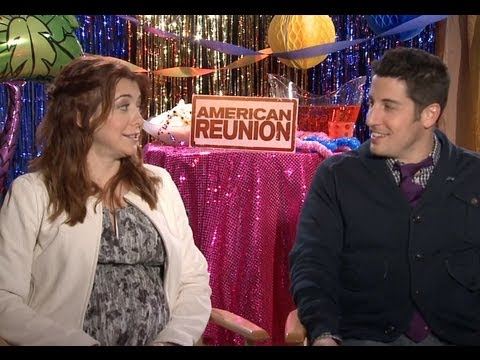 Jason Biggs and Alyson Hannigan share 'American Reunion' memories