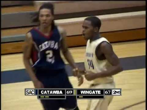 Wingate Men's Basketball - Highlights from Wingate's 77-69 win over Catawba (1/4/2011)