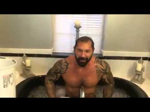 Dave Batista On Als Ice Bucket Challenge video