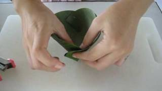 Making a Banana Leaf Pouch