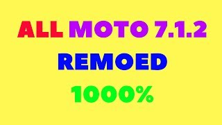 How to bypass moto 2018 all 7.2.1frp remove