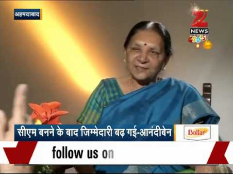 Zee Media Exclusive Interview with Gujarat CM Anandiben Patel