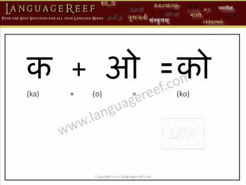 Learn Hindi Vowel Signs with audio and transliteration  - Learn Indian Language Series