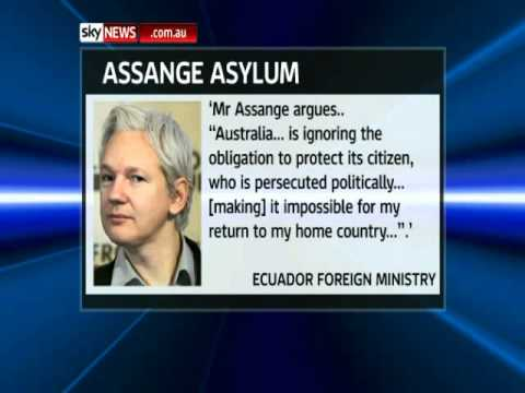 Julian Assange seeks asylum from Ecuador.