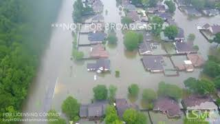 08-29-2017 Beaumont, TX - Severe Flooding Aerial Video