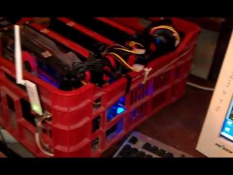 Bitcoin Mining rig - 6x ATI 5870HD - 2.7GH/s