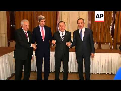 Lavrov meets Kerry; Hague comments; Ban meets SNC delegates; roundtable meeting