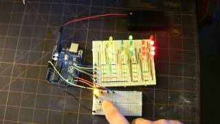 Arduino Binary clock with Seconds Multiplexing - YouTube
