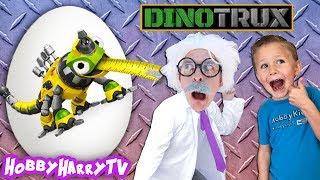 Giant DINOTRUX Surprise Egg + HobbyKids Meet HobbyHarry on HobbyHarryTV