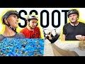 PRO GAME OF SCOOT INTO FOAM PIT!