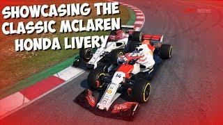 SHOWCASING THE CLASSIC MCLAREN HONDA LIVERY!   F1 2019 GAME MOD