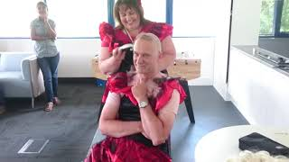 Head shaving for Independent age charity