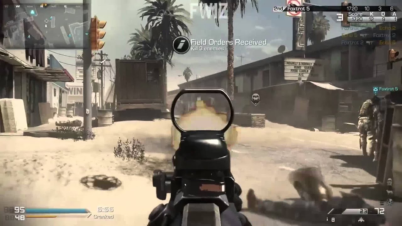 Cod Ghost Mtar Honey Badger Gameplay Whiteout And Octane