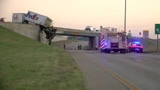 Crews on scene of semi-truck fire