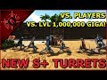 ARK | NEW S+ TURRETS! [VS PLAYERS, VS LEVEL 1 MILLION GIGA]